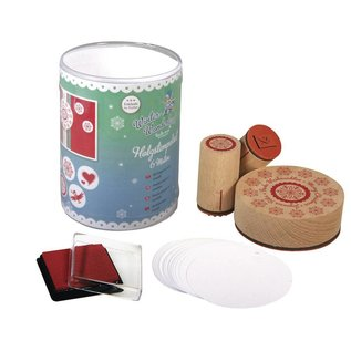 "Stempel / Stamp: Holz / Wood Mini houten stempel set ""Winter Wonderland"""