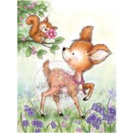 Wild Rose Studio`s Transparant Stempel: Reindeer