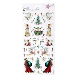 STICKER / AUTOCOLLANT 2 sheets with 30 Christmas embroidery motifs with glitter
