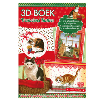 Bücher, Zeitschriften und CD / Magazines Craft book for the design of 20 Christmas cats, 3D cards