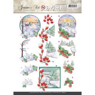 Bilder, 3D Bilder und ausgestanzte Teile usw... A beautiful 3D die-cut bow, winter landscape
