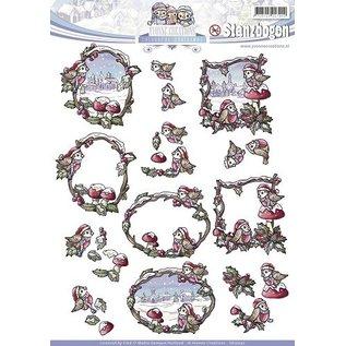 Bilder, 3D Bilder und ausgestanzte Teile usw... Ein herrlicher vorgestanzter 3D-Bogen, Colourful Christmas.