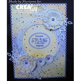 Crealies und CraftEmotions Stanzschablonen, 12 Rechtecke mit offener scallop max. 12,5x16,5 cm
