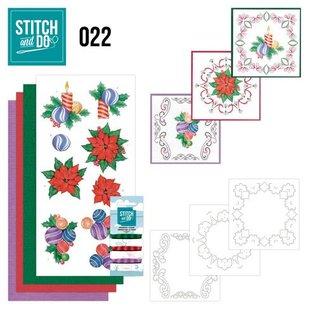 BASTELSETS / CRAFT KITS Bordürenset, Stitch and Do: Weihnachten