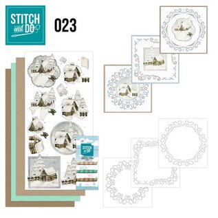 BASTELSETS / CRAFT KITS Kit da ricamo, punto e cappello: Winterland
