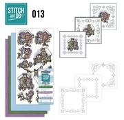 BASTELSETS / CRAFT KITS Stitching kit, Stitch and Do: bird boxes