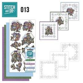 BASTELSETS / CRAFT KITS Kit de couture, Stitch et Do: boîtes à oiseaux