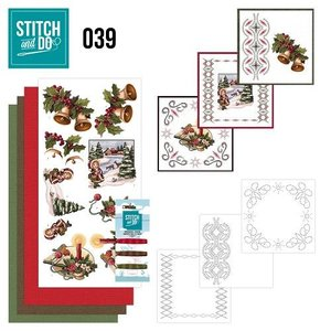 BASTELSETS / CRAFT KITS Bordürenset, Stitch en Do: Kerstgroeten