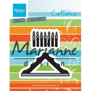 Marianne Design Cutting en embossing Sjablonen: Kaarsen