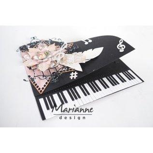 Marianne Design Cutting en embossing Sjablonen: Piano