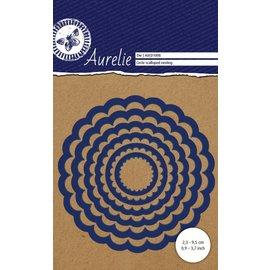 AURELIE AURELIE, Skæring og prægning dør: Circle Scalloped Nesting Die