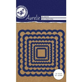 AURELIE AURELIE, Cutting en embossing Sjablonen: Square Scalloped Nesting