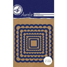 AURELIE AURELIE, Skæring og prægning dør: Square Scalloped Nesting