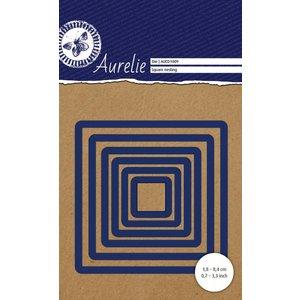 AURELIE AURELIE, Cutting en embossing Sjablonen: vierkanten