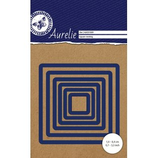 AURELIE AURELIE, Cutting and embossing die: Squares