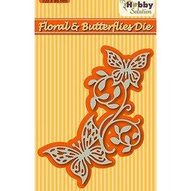 Nellie Snellen Corte y estampación plantillas: Floral y mariposas