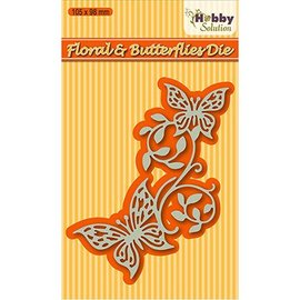 Nellie Snellen Cutting and embossing die: Floral & butterflies