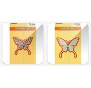 Nellie Snellen Stanzschablonen: 2 Schmetterlinge