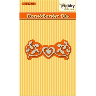 Nellie Snellen Cutting and embossing die: Floral-2 border