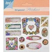 Embellishments / Verzierungen crystal 3D Sticker, 15 Motive