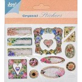 Embellishments / Verzierungen pegatinas de cristal en 3D, 15 diseños