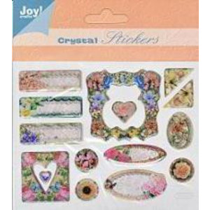 Embellishments / Verzierungen kristal 3D Stickers, 15 Designs