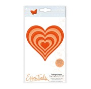 CREATIVE EXPRESSIONS und COUTURE CREATIONS cutting and embossing dies, 7 hearts in 7 different sizes