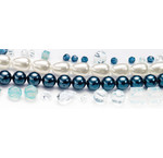 Pearls, Swarovski and others for the design with the MixMedia collection