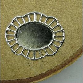 Embellishments / Verzierungen 2 metalen frames, sierlijst, 43 x 35 mm