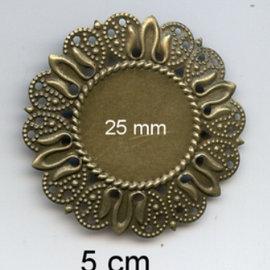 Embellishments / Verzierungen 2 Metall Frames, Zierrahmen, 50 mm und Innen 25mm