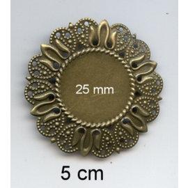 Embellishments / Verzierungen 2 telai metallici, cornice decorativa, 50 mm e mm interno 25