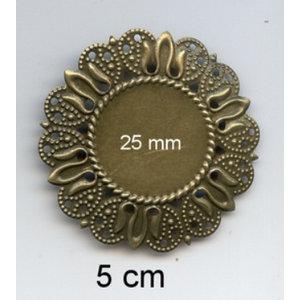 Embellishments / Verzierungen 2 metalen frames, sierlijst, 50 mm en 25 mm interior