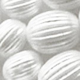 Schmuck Gestalten / Jewellery art art rainures perles bijoux, blanc, 8 mm