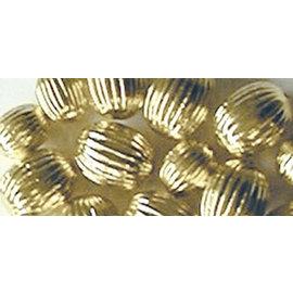 Schmuck Gestalten / Jewellery art Jewellery art Rillenperlen, gold, 8mm