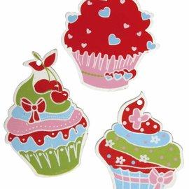 Embellishments / Verzierungen parti in legno-grana: Zucchero Tart