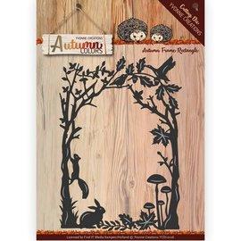 Yvonne Creations Plantilla de corte y estampado, marco decorativo, tamaño: aprox. 14 x 9,5 cm