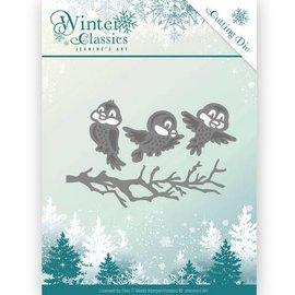 JEANINES ART (NEU) Snij- en embossing Sjablonen, Winter Classics - Winter birds