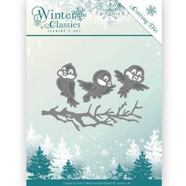 JEANINES ART  Snij- en embossing Sjablonen, Winter Classics - Winter birds