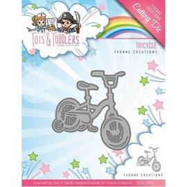 Yvonne Creations Troquelado y repujado Muere: bicicleta para niños, tamaño aprox 5.1 x 5.1 cm