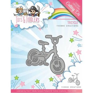 Yvonne Creations Cutting and embossing Dies: Children's bike, size approx 5.1 x 5.1 cm