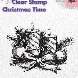 Nellie Snellen tampons transparents, Nellie Snellen, couronne de Noël avec des bougies