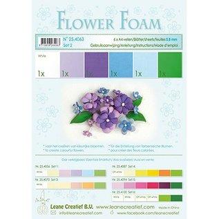 Leane Creatief - Lea'bilities und By Lene Set 2, blauw-paarse kleur: Blad van het Schuim assortiment + gids