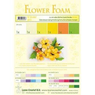 Leane Creatief - Lea'bilities und By Lene Set 4, yellow tones: Foam Sheet Assortment + instructions