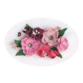 Leane Creatief - Lea'bilities und By Lene Set 5, Rosso - Rosa colore: Schiuma Foglio assortimento + Guida