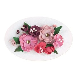 Leane Creatief - Lea'bilities und By Lene Set 5, rouge - couleur rose: mousse assortiment de feuilles + Guide
