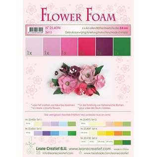Leane Creatief - Lea'bilities und By Lene Set 5, red - Pink color: Foam Sheet Assortment + Instructions
