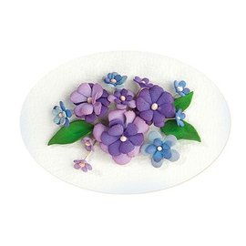Leane Creatief - Lea'bilities und By Lene Conjunto 2, de color azul-violeta: Espuma Hoja surtido + Guía
