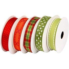 DEKOBAND / RIBBONS / RUBANS ... Motif tape set red-green, 5 x 2 meters