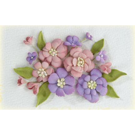 Moosgummi und Stanzschablonen: Blumen und Blätter und sonstiges