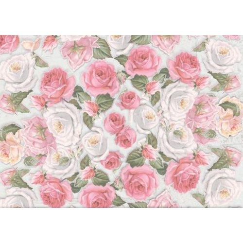 Papier, bloemmotieven, stempelmotieven bloemen
